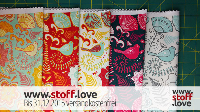 Ein Stoff in 5 Farben mit www.stoff.love
