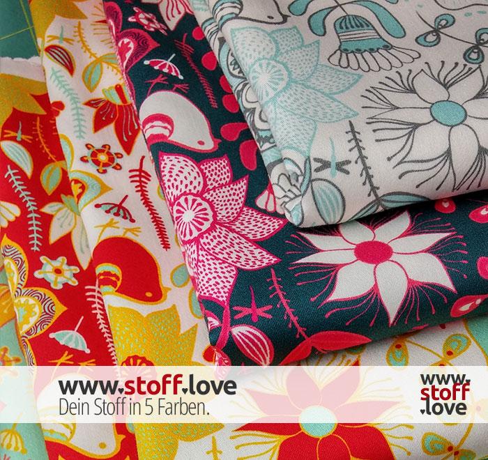 Dein Stoff in 5 Farben mit www.stoff.love