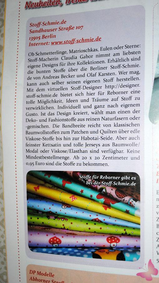 www.Stoff-Schmie.de im Magazin für Sammler und Puppenmacher