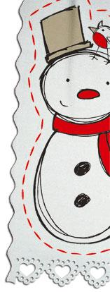 Cool Yule Schneemann auf Stoff