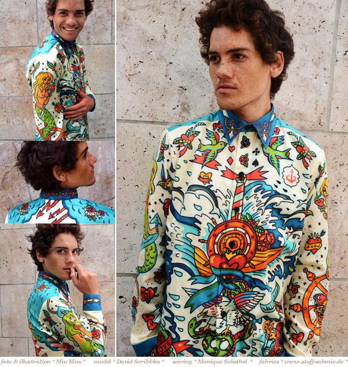 Ein Jerseyhemd mit eigener Illustration