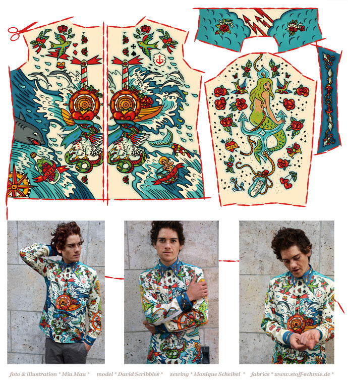 Von der Illustration zum Hemd - Miu Mau
