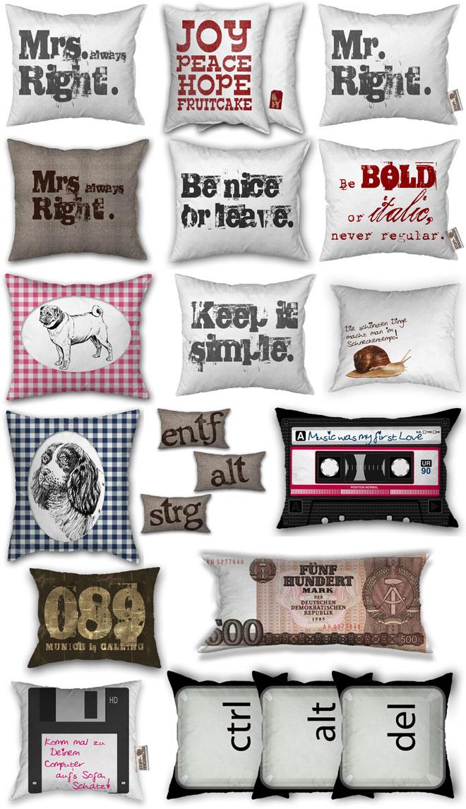 ob ein kissen zum geburtstag hochzeit oder dekoration individuell mit foto text oder motiv. Black Bedroom Furniture Sets. Home Design Ideas