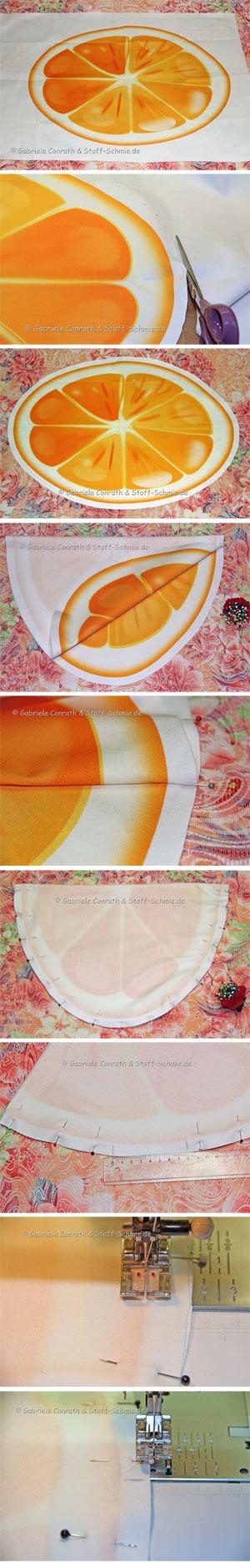 Orangen Kissen selbernähen