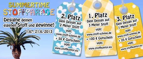 Summertime Stoffparade - Gewinne Stoff im Wert von 300€