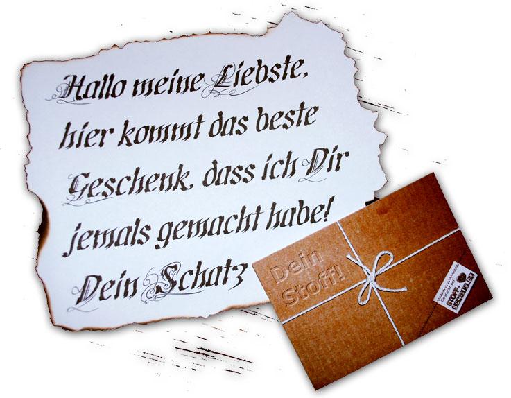 Ein Gutschein zum Verschenken von www.Stoff-Schmie.de