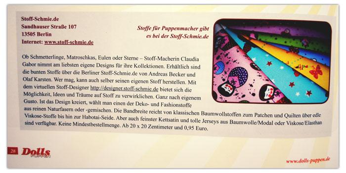 Stoff-Schmie.de bei DOLLS