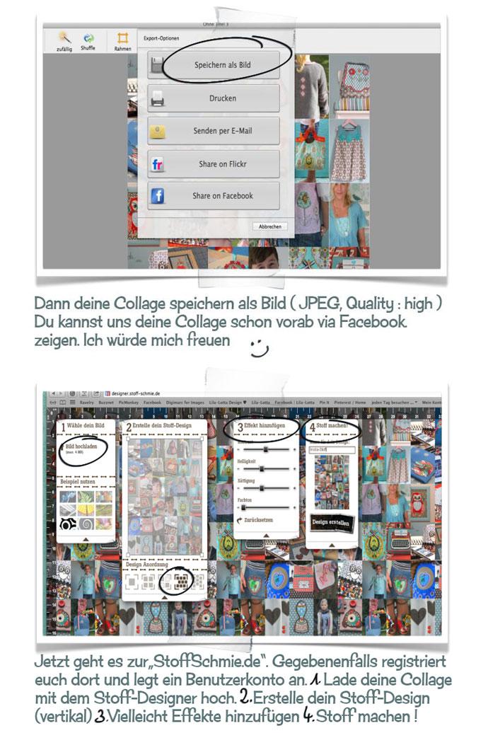 Ab zur Stoff-Schmie.de mit Deiner selbst erstellten Foto Collage.