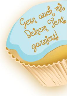 Garniere Dein Cupcake einfach selber.
