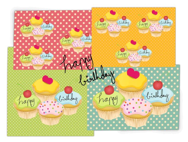 Cupcake Illustrationen von Clarice Gomes