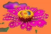 Bedruckter Stoff kreativ verarbeitet - hier im Bild - beigetragen von Calfredo