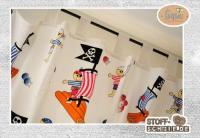 Bedruckter Stoff kreativ verarbeitet - hier im Bild - beigetragen von Pirates of the Bathroom