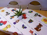 Bedruckter Stoff kreativ verarbeitet - hier im Bild - beigetragen von Kinderbastel-Partyset