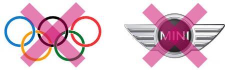 Bekannte Logos großer Marken unterliegen dem Copyright und dürfen nicht einfach abgedruckt werden.