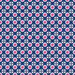 Stoff-Design - Blauer Rosen Punkte Stoff