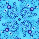 Stoff-Design - Schnabelinas Traumstoffrock Ranken blau - von Schnabelina auf www.Stoff-Schmie.de