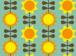 Design - Sonnen&Blumen - by frauZucker, read more about this textile design