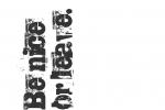 Stoff-Design - Be nice or leave! - von Wilma Stoffheimer auf www.Stoff-Schmie.de