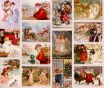 Stoff-Design - Shabby Weihnachtsstoff - von Stoff-Schmie.de auf www.Stoff-Schmie.de