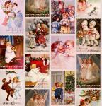 Stoff-Design - Weihnachtsstoff im Vintage Look - von Stoff-Schmie.de auf www.Stoff-Schmie.de