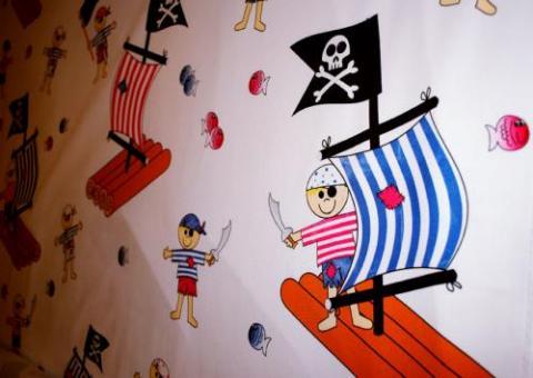 piraten vorhangstoff www stoff. Black Bedroom Furniture Sets. Home Design Ideas