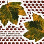 Herbstblatt als Dekokissen