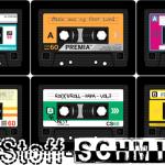 Coole Musik Kassetten Kissen Stoffe by www.Stoff-Schmie.de