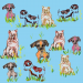 Design - Hundewiese - by BS Gallery, read more about this textile design