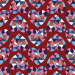 Design - Geo LOVE red - by Lila-Lotta, read more about this textile design