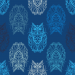 Design - Lechuza blue - by Lila-Lotta, read more about this textile design