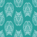 Design - Lechuza cyan - by Lila-Lotta, read more about this textile design