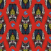 Design - Lechuza fam red - by Lila-Lotta, read more about this textile design