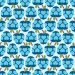 Design - MyLeni Apples LOVE blue  - by Lila-Lotta, read more about this textile design