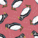 Design - Pinguin rose - by Lila-Lotta, read more about this textile design
