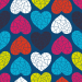 Design - Sweet Geo Love blue - by Lila-Lotta, read more about this textile design
