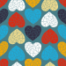 Design - Sweet Geo Love cyan - by Lila-Lotta, read more about this textile design