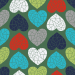 Design - Sweet Geo Love green  - by Lila-Lotta, read more about this textile design