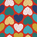 Design - Sweet Geo Love red - by Lila-Lotta, read more about this textile design