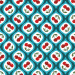 Design - Sweet Peppy Cherry Love cyan - by Lila-Lotta, read more about this textile design