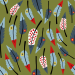 Design - Typchen Federn O - by Lila-Lotta, read more about this textile design