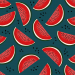 Design - watermelon blue - by Lila-Lotta, read more about this textile design