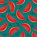 Design - watermelon slices  - by Lila-Lotta, read more about this textile design