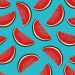 Design - watermelon slices blue - by Lila-Lotta, read more about this textile design