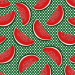 Design - watermelon slices green - by Lila-Lotta, read more about this textile design