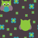 Design - Owls and Flowers - by coyolxa, read more about this textile design