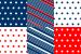 Design - Patchwork Quadrate (gestreift und gepunktet) - by Lieblingsstoff, read more about this textile design