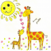 Design - sunny giraffes - by franta001, read more about this textile design