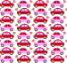 Design - Auto Love inspired by C.Gabor - by Wilma Stoffheimer, read more about this textile design