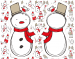 Design - Cool Yule Schneemann - by Stoff-Schmie.de, read more about this textile design