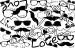 Design - Mustache Party - by Wilma Stoffheimer, read more about this textile design